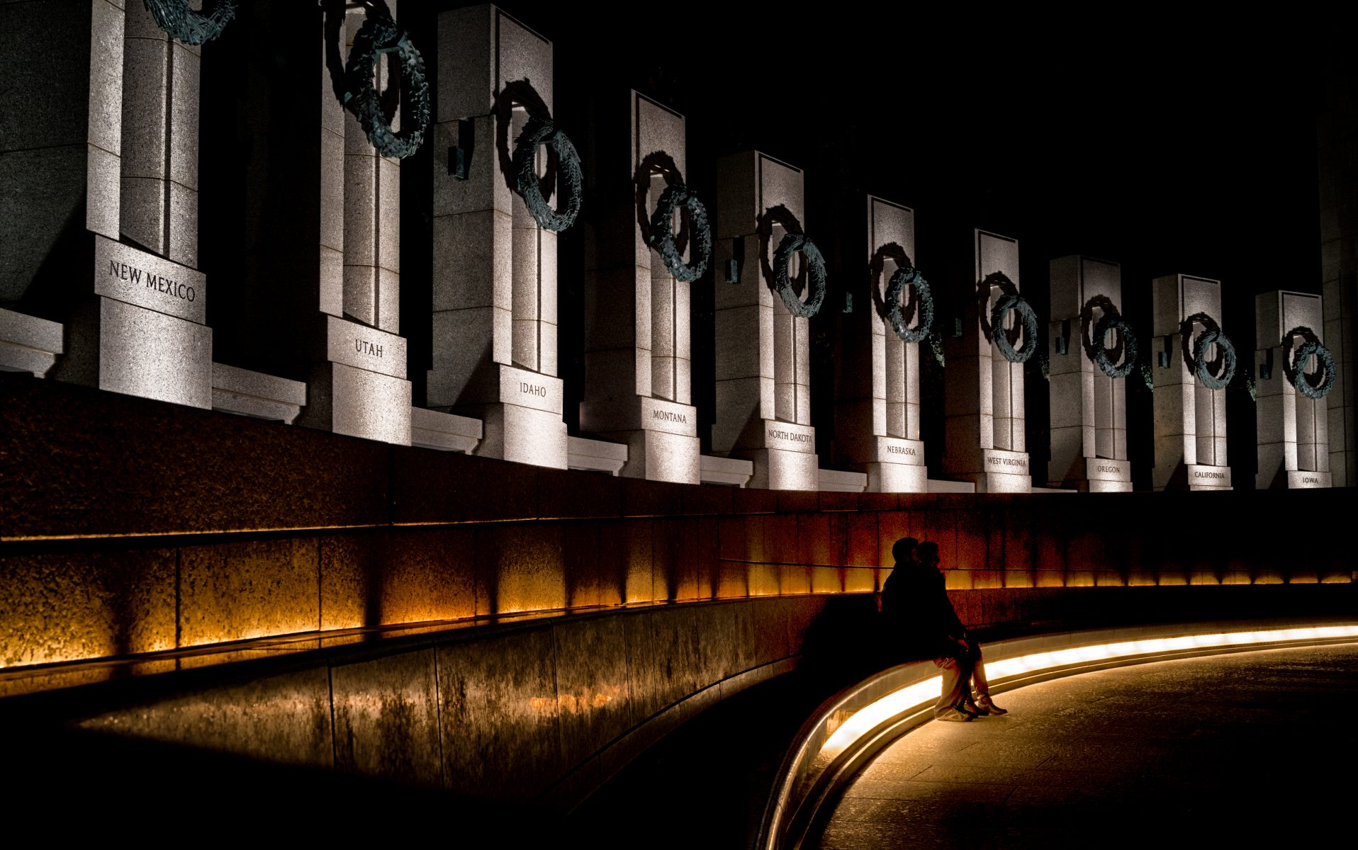 Nightime at the Memorial