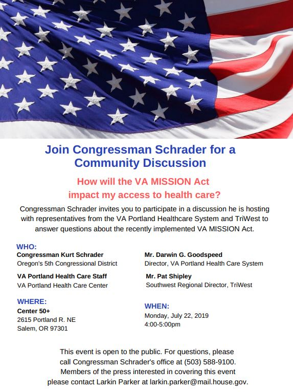 Community Discussion on the VA MISSION Act in Salem – Oregon