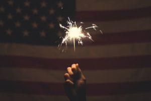 sparkler, america, sparkle